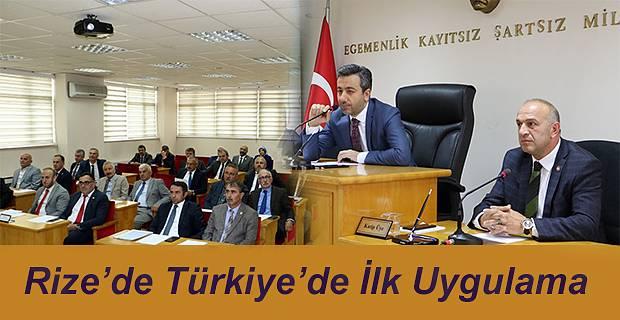 TÜRKİYE'DE İLK UYGULAMA