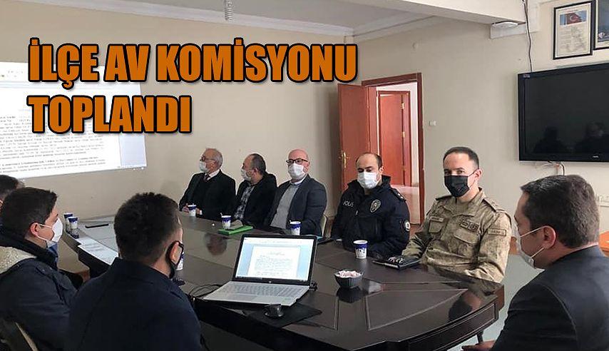 İLÇE AV KOMİSYONU TOPLANDI