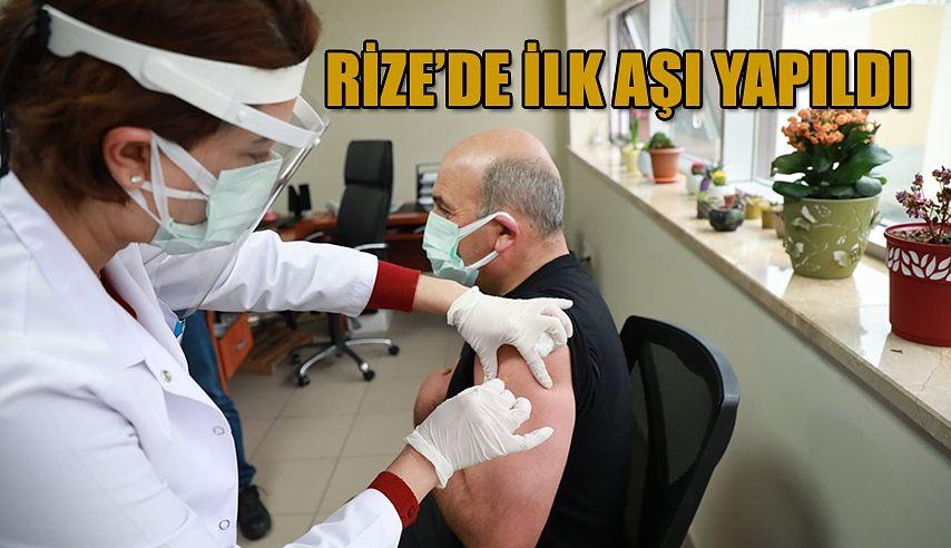 Rize'de İlk Aşı Siftah Edilerek Başladı