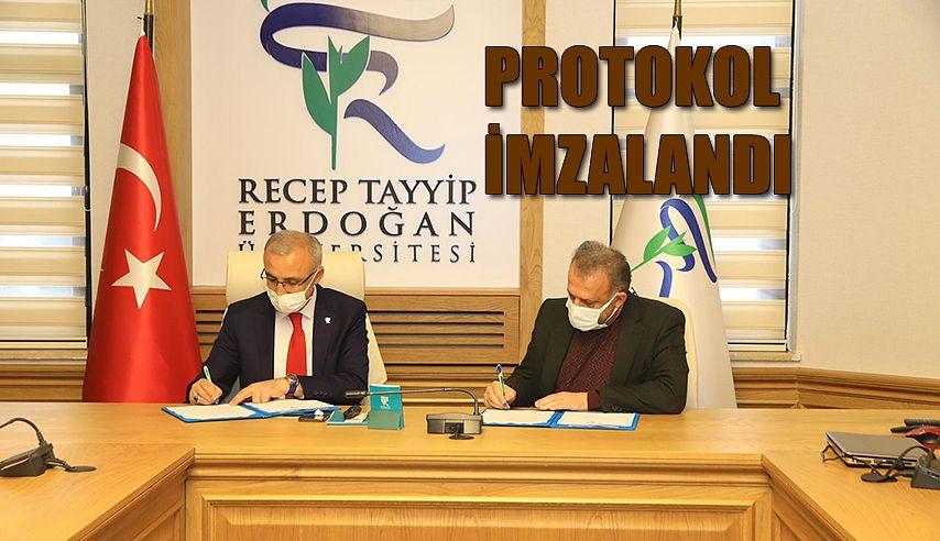 RTEÜ Üniversitesi ile Şiddetle Mücadele Vakfı Arasında Protokol İmzalandı