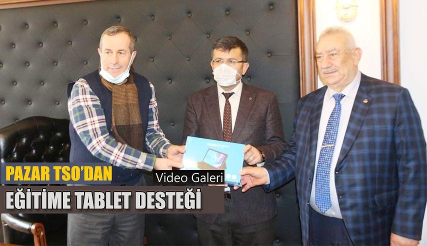 PAZAR TSO'dan eğitime tablet desteği