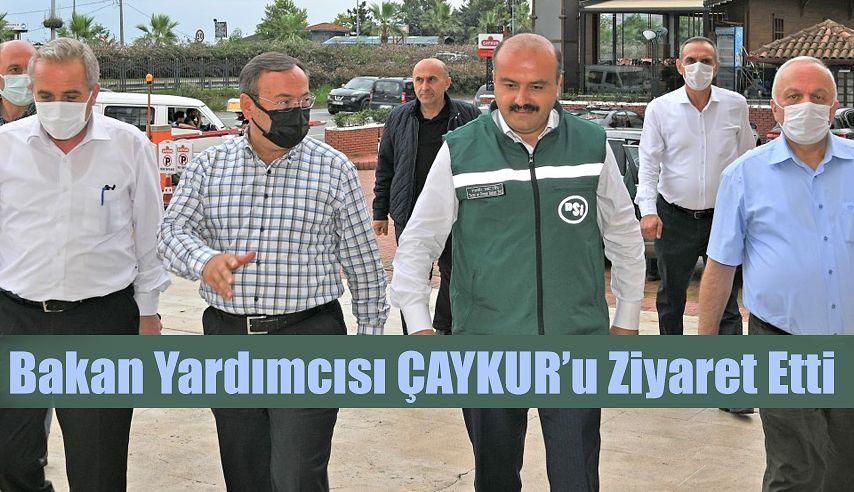 TARIM VE ORMAN BAKAN YARDIMCISI METİN'DEN ÇAYKUR'A ZİYARET