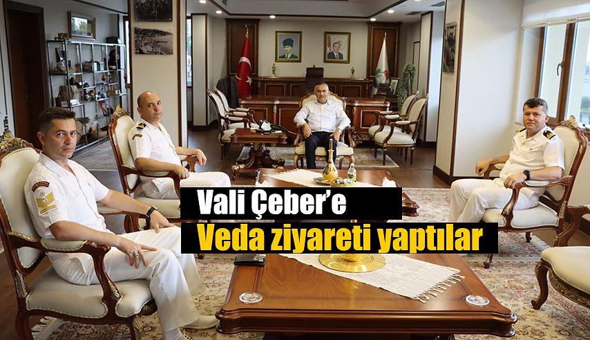 Vali Çeber'e Veda Ziyareti
