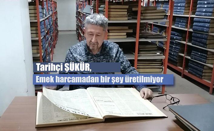 Tarihçi Rıdvan Şükür, Ankara'da yeni kitap için çalışmalarına devam ediyor