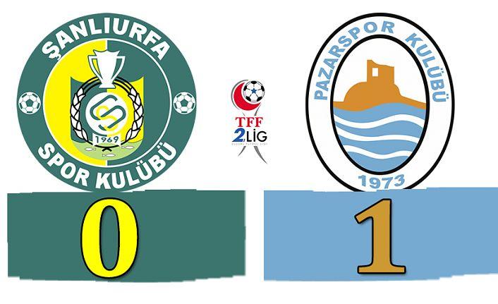 Pazarspor Şanlıurfa'dan 3 puanla dönüyor.0-1