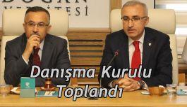 RTEÜ Danışma Kurulu Toplantısı Vali Kemal Çeber'in Başkanlığında Yapıldı
