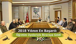Rektör Karaman En Yüksek Puanlı Öğretim Üyelerini kabul etti