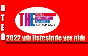 RTEÜ Yeni Dönemde de, Dünyanın En İyi Üniversiteleri Listesinde!