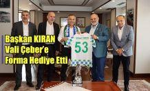 Başkan Tahir Kıran'dan Vali Kemal Çeber'e Ziyaret