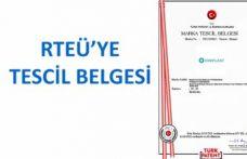 RTEÜ'YE MARKA TESCİL BELGESİ VERİLDİ