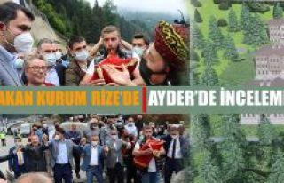 Çevre ve Şehircilik Bakanı Murat Kurum, Rize'yi...