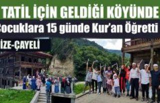 15 günde Kur'an öğrendiler