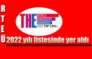 RTEÜ Yeni Dönemde de, Dünyanın En İyi Üniversiteleri...