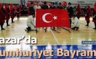 Pazar'da Cumhuriyet Bayramı törenlerle kutlandı