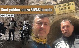 Bayburt-Sivas arasında 7 saat motosiklet sürdüler