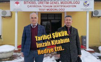 Çayırova Tohum Sertifikasyon Test Müdürlüğü Tarihçi Rıdvan Şükür'ü ağırladı