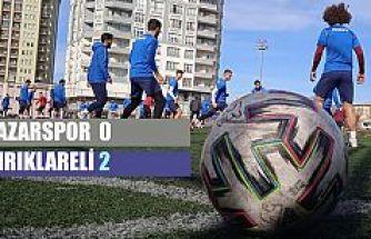 Pazarspor evinde 2-0 Mağlup oldu