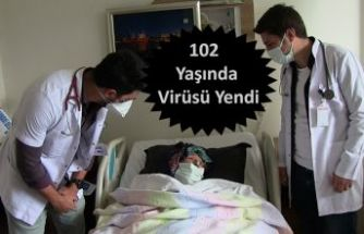 102 YAŞINA RAĞMEN VİRÜSÜ YENDİ
