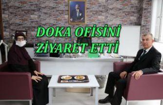 DOKA OFİSİNİ ZİYARET ETTİ.