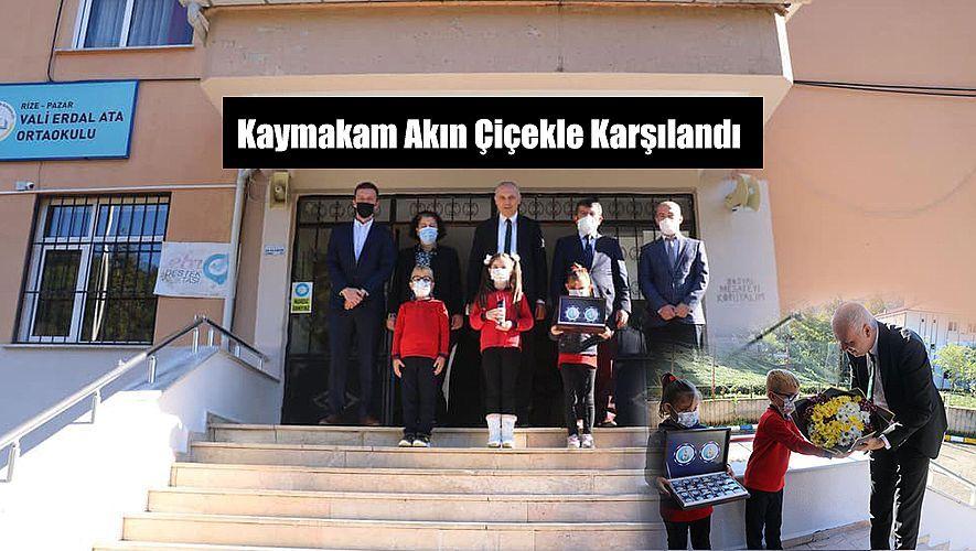 Pazar Kaymakamı Mustafa Akın Okul Ziyaretinde bulundu